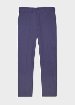 Men's Washed Lilac Blue Cotton Chinos