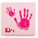 Pearhead Baby and Me Handprint Canvas Kit, Pink Elephant