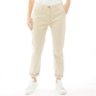 Onfire Womens Twill Chino Trousers Stone