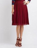 Charlotte Russe Pleated Chiffon Midi Skirt