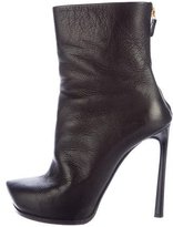 Lanvin Leather Pointed-Toe Booties