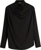 Vivienne Westwood Tondo cowl-neck draped top