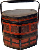 One Kings Lane Vintage Chinese Bamboo Lunch Basket
