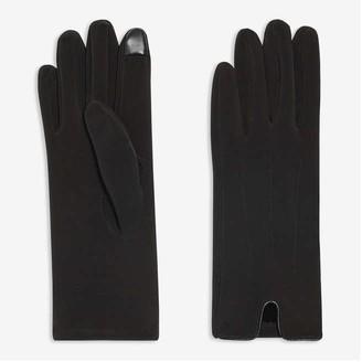 Joe Fresh Women's Nylon Touch-Tip Gloves, Black (Size L/XL)