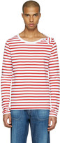 Faith Connexion Red and White Striped T-shirt