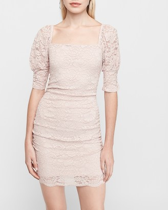 Express Cinched Lace Sheath Dress