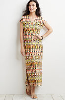 J. Jill Printed Empire-Waist Maxi Dress