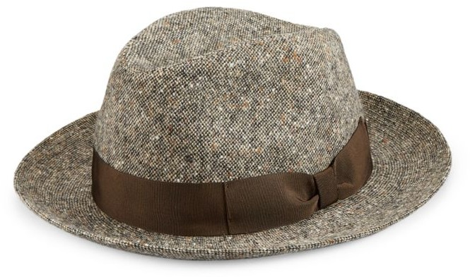 Saks Fifth Avenue Donegal Wool Fedora