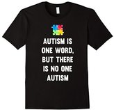 Mens Autism One Word Not One Autism Awareness T-Shirt XL