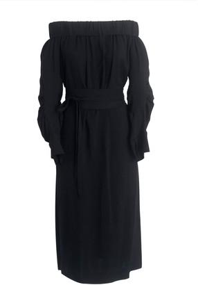 Onelady Off Shoulder Midi Dress Black Vivi