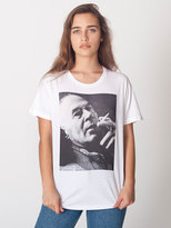 Screen Printed Unisex Power Washed Tee-Henry Miller