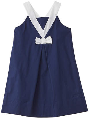 Lili Gaufrette Lamine Pleated Dress