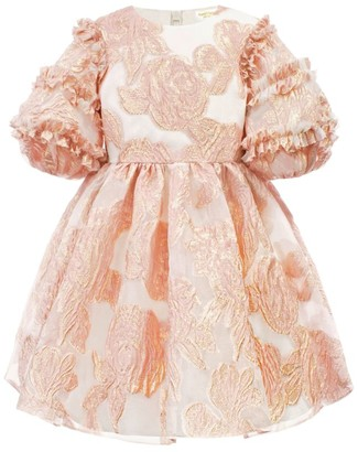 David Charles Gold Floral Wash Dress (3-12 Years)