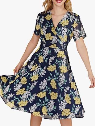 Yumi Spring Floral Wrap Dress, Multi