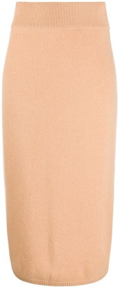 N.Peal Exposed Seam Cashmere Skirt