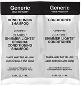 Generic Value Products GVP Conditioning Shampoo & Conditioner Compare to Clairol Shimmer Lights Duo Packette