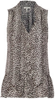 Joie Estero Animal Print Sleeveless Blouse