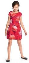 Gap Bold floral fit & flare dress