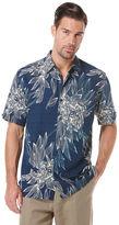 Cubavera Big & Tall Short Sleeve All-Over Tropical Print