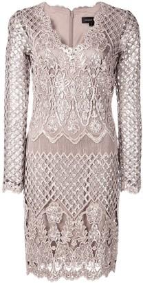 Tadashi Shoji floral sequin knit dress