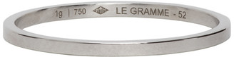 Le Gramme White Gold 1 Gramme Wedding Ring