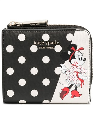 Kate Spade Two-Tone Polka Dot-Print Wallet
