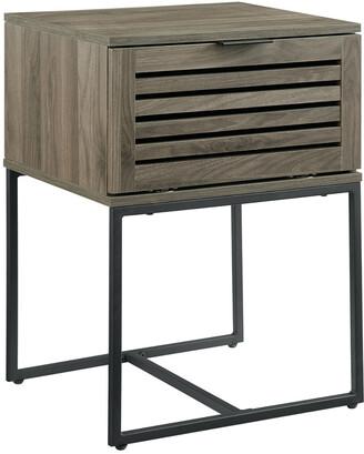Hewson 18In Modern Slat Door Side Table