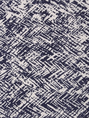 Montreux Fabrics Exclusive Abstract Diamond Overlay Jersey Fabric, Navy