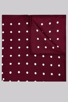 Hardy Amies Wine Spot Silk Pocket Square