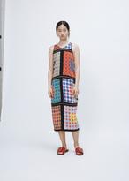 Wunderkind multi color polka dot sleeveless polka dot dress