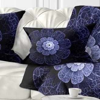 East Urban Home Floral Glittering Fractal Flower Lumbar Pillow