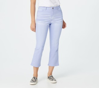 Logo by Lori Goldstein Baby Bootcut Colored Denim Cropped Jean
