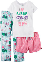 Carter's 3-pc. White Pajama Set - Preschool Girls 4-7
