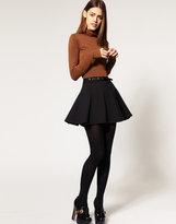 ASOS Ponti Mini Skirt With Belt