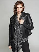 GUESS Misty Leather Moto Jacket