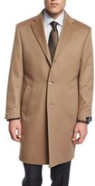 Neiman Marcus Cashmere Button-Down Long Coat, Camel