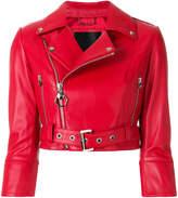 Philipp Plein Carolyn Flynn Leather Biker jacket