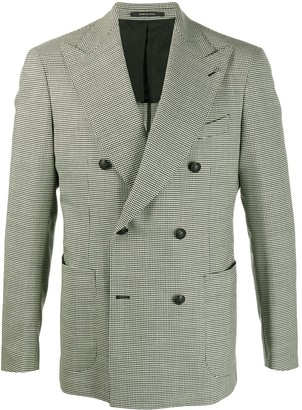 Tagliatore Double Breasted Houndstooth Blazer