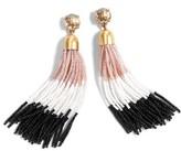 J.Crew Women's Colorblock Bead Tassel Earrings