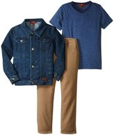 7 For All Mankind Standard 5-pocket Jeans Set (Toddler) - Heather Navy - 2T