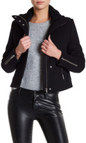 Doma Genuine Dyed Lamb Shearling Wool Blend Jacket