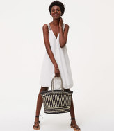 LOFT Monochrome Straw Bag