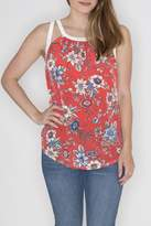 Cherish Floral Cut Out Top