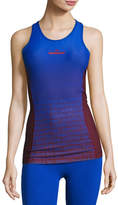 Stella McCartney Training Miracle Sculpt Tank Top, Cherry Wood/Bold Blue
