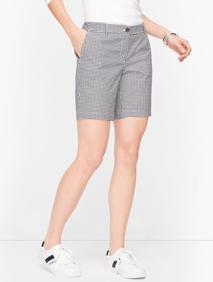 """Talbots Relaxed Chino Shorts - 7"""" - Gingham"""