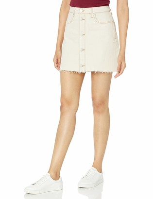 The Drop Women's Tracy Button Front Denim Mini Skirt