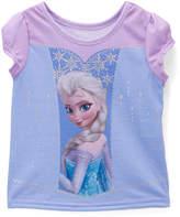 Children's Apparel Network Frozen Elsa Purple Cap-Sleeve Tee - Toddler