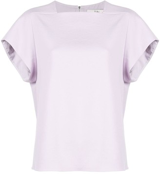 Tibi Drape Square Neck Top