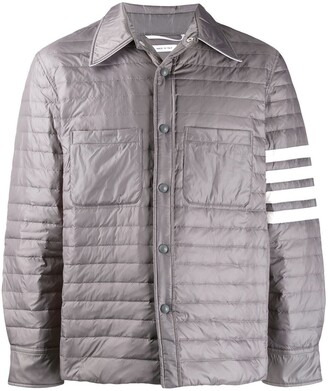 Thom Browne quilt down Fill 4 Bar shirt jacket