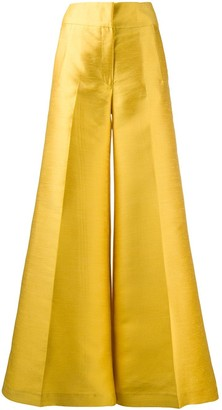 Pt01 high-waisted flared trousers